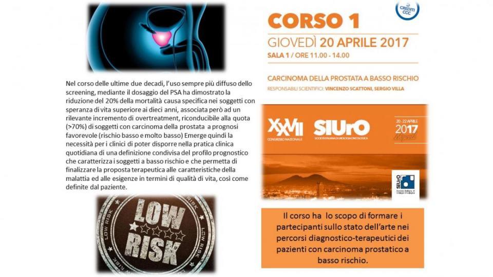Corso ECM 1 - Carcinoma della prostata a basso rischio
