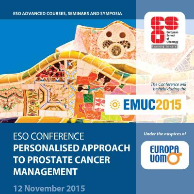 ESO Conference: personalized approach to prostate cancer management