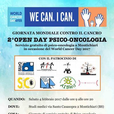 2° Open day psico-oncologia a Montechiari- Giornata mondiale contro il cancro