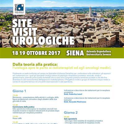 Site Visit Urologiche - Dalla teoria alla pratica: l'urologia apre le porte ai radioterapisti ed agli oncologi medici.