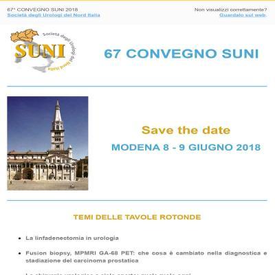 67° Convegno SUNI - SAVE THE DATE