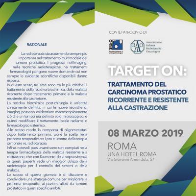 TARGET ON: trattamento del carcinoma prostatico ricorrente e resistente alla castrazione