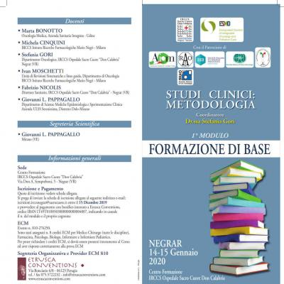 Studi clinici: metodologia - 1º modulo: formazione di base