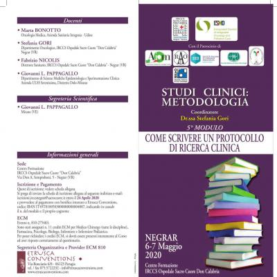Studi clinici: metodologia - 5º modulo: come scrivere un protocollo di ricerca clinica