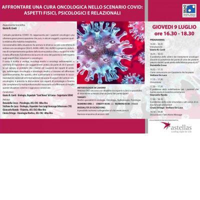 Webinar FAD - Affrontare una cura oncologica nello scenario COVID: aspetti fisici, psicologici e relazionali