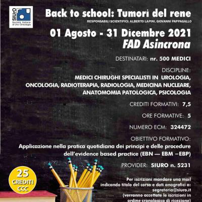 Back to school: Tumori del rene