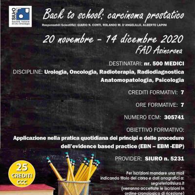 Back to school: carcinoma prostatico -  FAD asincrona
