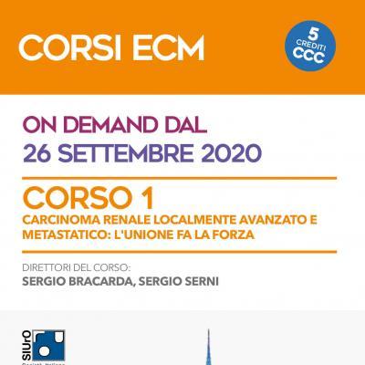 Corso ECM 1 - Carcinoma renale localmente avanzato e metastatico: l'unione fa la forza