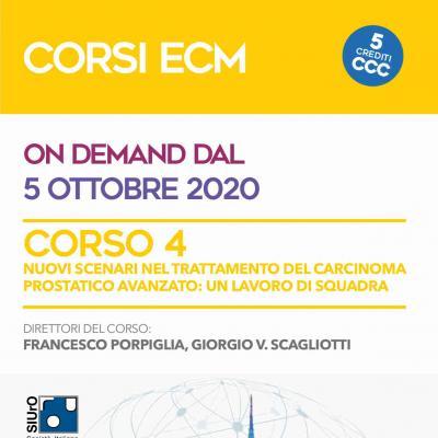 Corso ECM 4 - Nuovi scenari nel trattamento del carcinoma prostatico avanzato: un lavoro di squadra