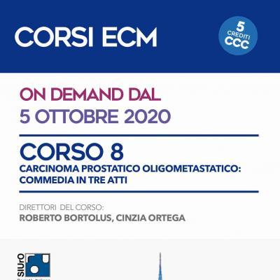 Corso ECM 8 - Carcinoma prostatico oligometastatico: commedia in tre atti