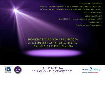 Spotlights carcinoma prostatico: verso un'uro-oncologia precisa, partecipata e personalizzata