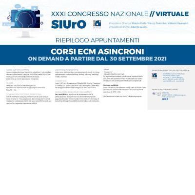 XXXI Congresso Nazionale SIUrO - Corsi ECM on demand