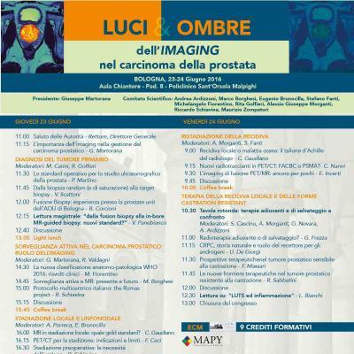 Luci&Ombre dell'immagine nel carcinoma della prostata