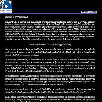 Posizione della SIUrO sulla carenza di BCG