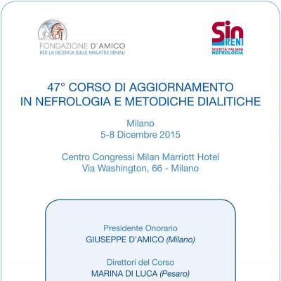 47° Corso di aggiornamento in nefrologia e metodiche dialitiche